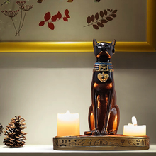 Egyptian Cat Nordic Candlestick Decor Home Decoration Candle Holders Tealight Ornaments Light Luxury Restaurant Candles