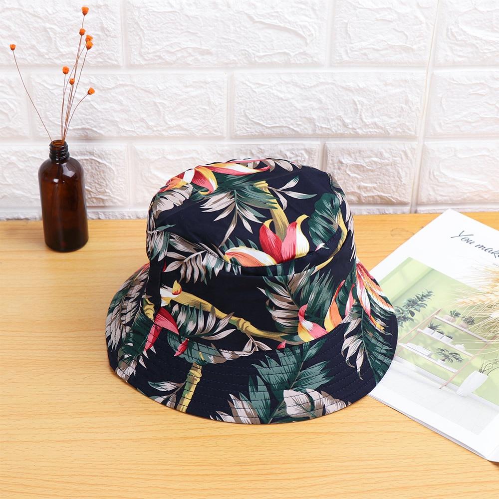 Women Men Harajuku Bucket Hat Cotton Fishing Hat Hip Hop Cap Fruit Floral Bucket Hat Sun Flat Top Fisherman Hats Sunscreen Caps