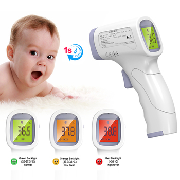 Baby Forehead Non Contact Thermometer Infrared LCD Body Temperature Fever Digital IR Measurement Tool Gun for Baby Adult baby digital thermometer ir infrared thermometer non contact forehead body surface temperature instruments data hold function