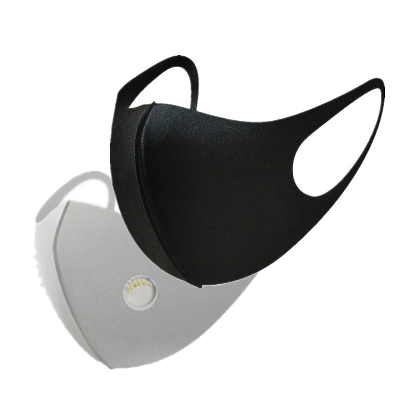 Mouth Mask Anti-Dust Anti Pollution Mask Cloth Activated Carbon Filter Respirator Black Cotton Breath Valve PM2.5  Face Masks