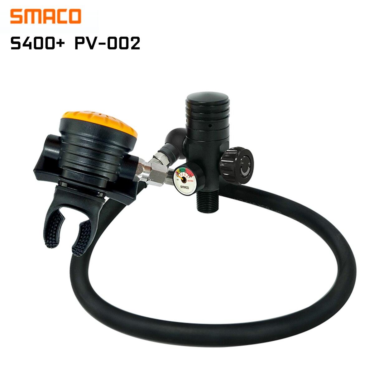 SMACO S400 Plus 3/8-24UNF Scuba Oxygen Diving Medium Pressure Tube Second Level Breathing First Level Pressure Reducing Valve