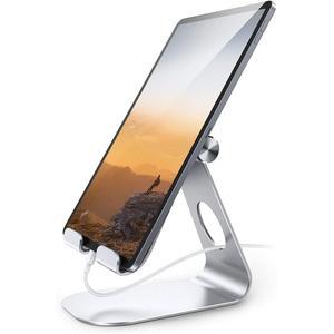 Support de tablette réglable, support de tablette en aluminium: support de support de bureau Dock Compatible avec la tablette telle que l'ipad Pro 9.7, 10.5,12.