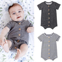Newborn Toddler Clothes Cute Baby Girls Boys Romper Casual Jumpsuit Cotton Short Sleeve Onesie Sunsuit