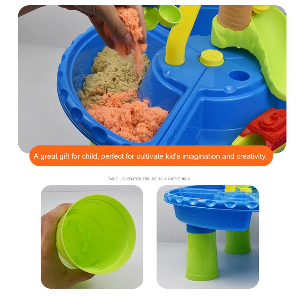 22pcs Sandglass Play Multipurpose Outdoor Activity Sand Table Seaside Digging Pit Garden Kids Gift Detachable Beach Toy Set