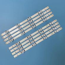 "Lámpara de luz de fondo LED de 807mm tira de 8 LED para LG 39 pulgadas TV 390HVJ01 lnnotek drt 3,0 39 ""_ A/B tipo Rev01 39LB561V 39LB5800 39LB5610"