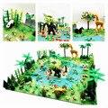 Regen Wald Teile Tier Grün Gras Dschungel Bush Blume Baum Pflanzen Bausteine DIY MOC Montieren Kompatibel Marken Grundplatte