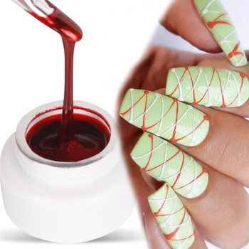 6 Color 5ml Spider Nail Gel Creative Wire Drawing Nail Lacquer Point To Line Painting Gel Polish Pulling Silk Spider Nail Art 1