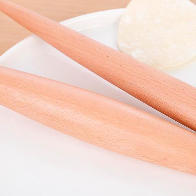 Rolling Pin Wood Fondant Cake Dough Roller Non-Stick Cooking Tool Gadgets Pasta Dumpling Skin Maker Double