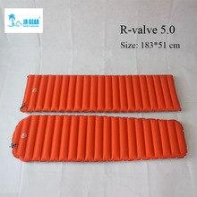 Jr engrenagem r 5.0 primaloft almofada de dormir ao ar livre moistureproof inflável esteira ar acampamento cama tubo ar