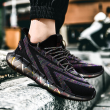 Fashion Men's Running Shoes Breathable Mesh Outdoor Sports Shoes Reflective Shoelace Walking Shoes Lightweight Running Sneakers new running shoes breathable outdoor male sports shoes lightweight sneakers women walking gym training shoes