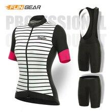 цена на Women Road Bike Clothing Pro Cycling Short Sleeve Jersey Set Bicycle Race Clothes Female Mtb Bib Shorts Pants Pad Ropa Ciclismo
