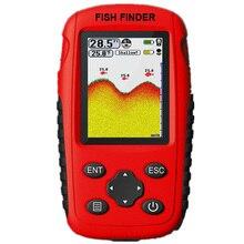 Portable Fish Finder Depth Sonar Sounder Alarm Waterproof Echo Sounder Sonar Fish цена 2017
