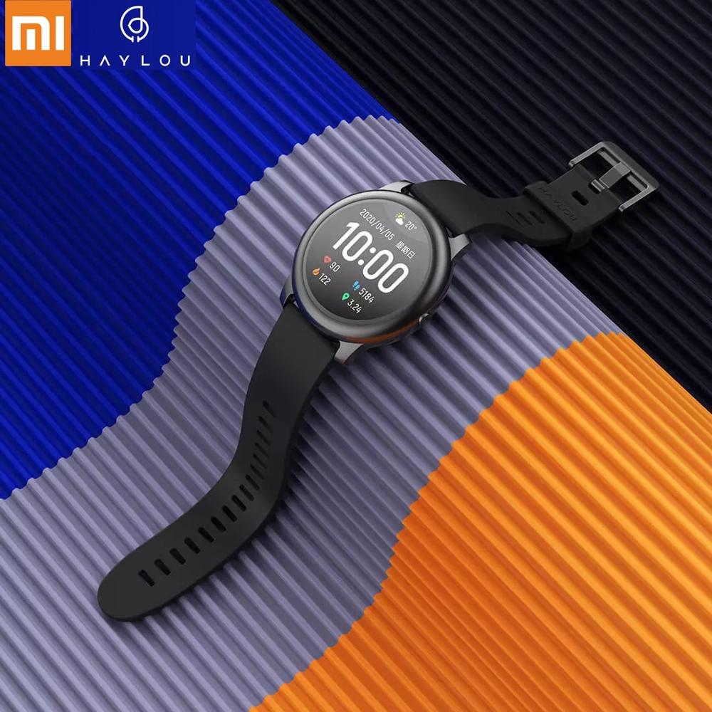 2020 Smart Watch Xiaomi Haylou Solar Smartwatch Sports Waterproof Reloj Inteligente Heart Rate Pedometer Watch For Android IOS