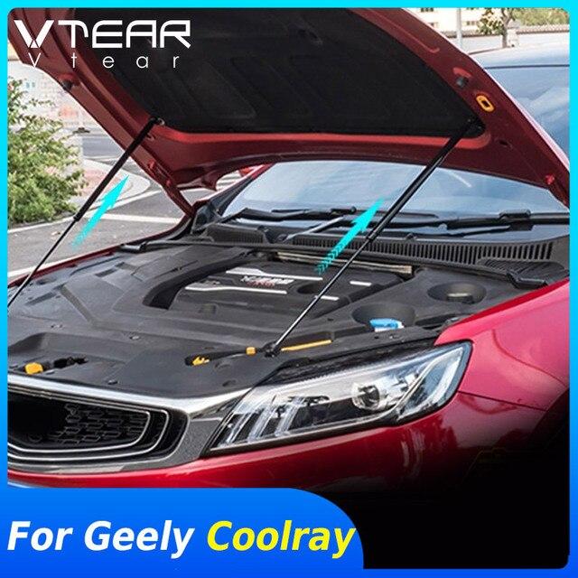 Vtear Für Geely Coolray SX11 Motor gas strut bar Unterstützung Zubehör teile Hydraulische Stange werkzeuge Außen Dekoration 2020