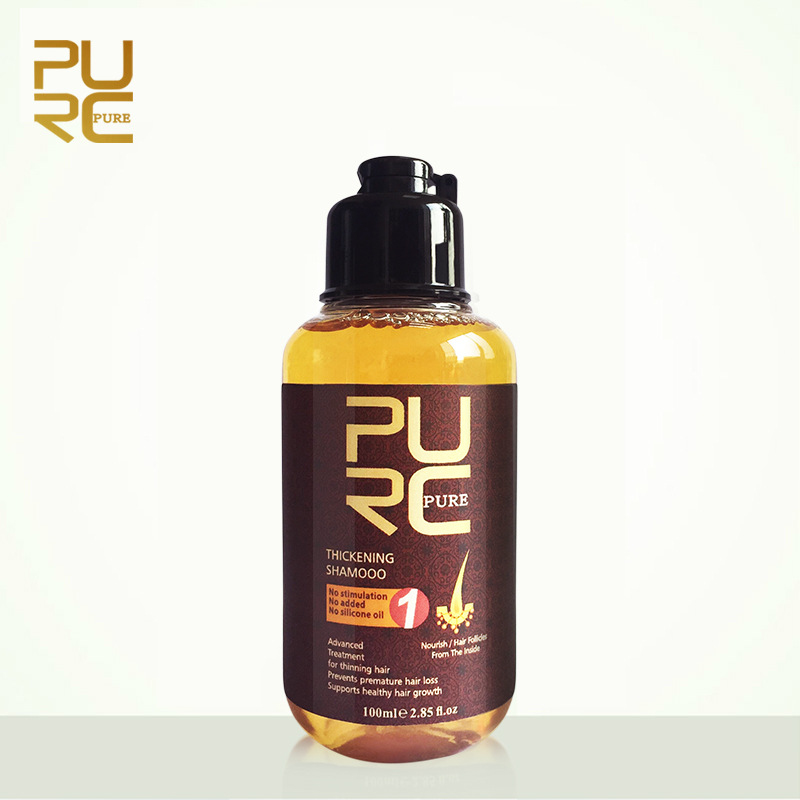 PURC 50ML Herbal Ginger Hair Shampoo Essence Treatment For Hair Loss Help Regrowth Shampoos Thickening Hair Care Products TSLM1 image