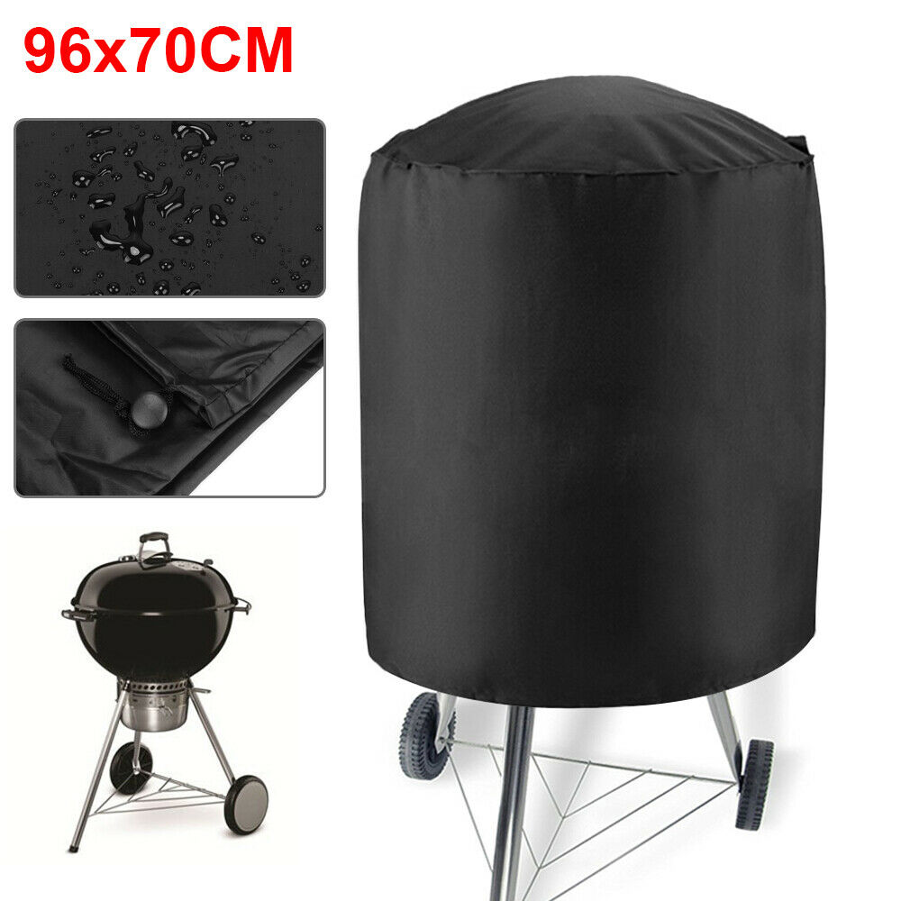 96cmx70cm Round Dome Waterproof BBQ Rainproof Durable Anti Dust Protector Home Cover For Barbecue Outdoor Garden Patio Protector