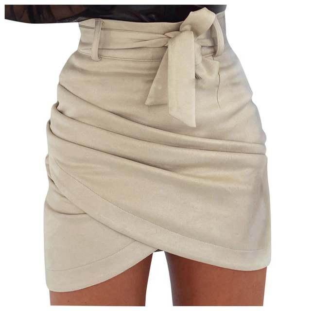 Kobiety lato seksowne spódnice codzienny portfel Hip krótkie spódniczki kobiety Solid Color Tight Office Party spódnica 2020 nowa gorąca sprzedaż