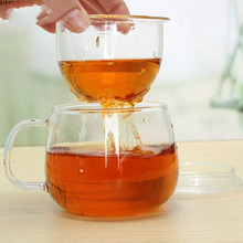 Coffee-Cup TEA-INFUSER-FILTER Clear Office Durable 300ml 1 with Lid Use-For Home 3-In-1set