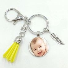 Upgraded Version of The Tassel Key Ring Baby Father and Mother Brothers and Sisters Grandparents Photo Keychain Custom Jewelry(China)
