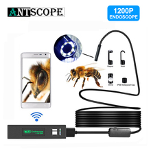 Antscope wifi эндоскоп камера HD 1200P Мини Жесткий/мягкий провод беспроводной 8 мм 8LED бороскоп камера для Android ПК IOS эндоскоп