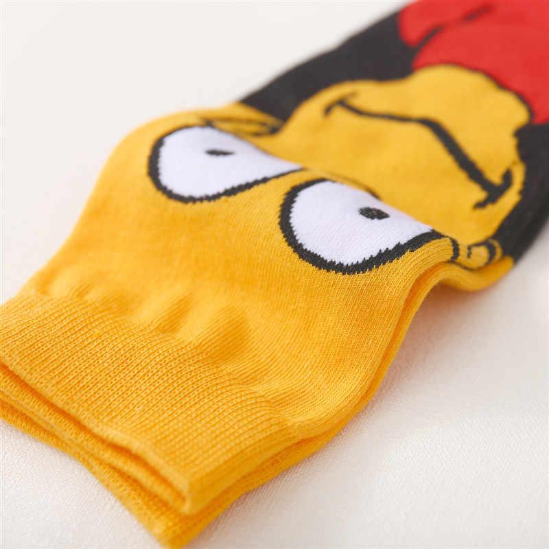 Yeni Unisex karikatür Simpson SpongeBob Patrick yıldız Harajuku çift komik mutlu çorap SquarePants erkekler çorap kadın çorap