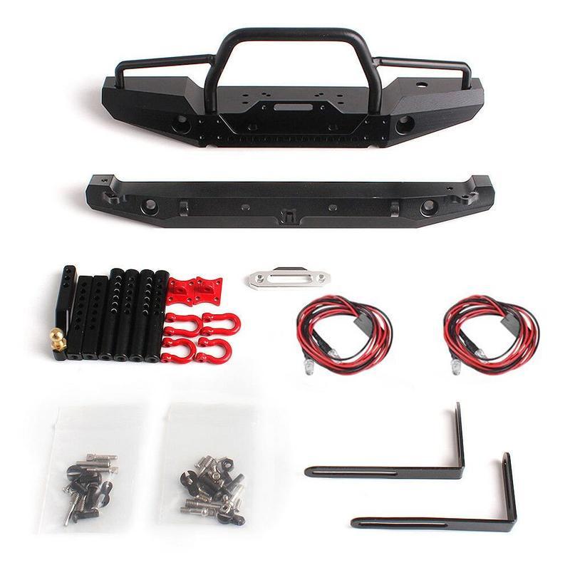 1:10 RC Rock Car Metal Front Rear Bumpers for Traxxa TRX-4 SCX10II 90046 RC Crawler Accessories