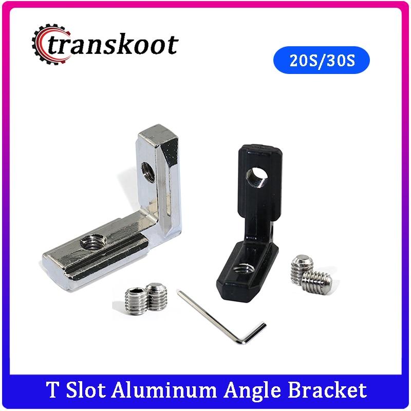 200pcs 100pcs Interior Joint Inside Aluminum Angle Bracket Corner Angle For T Slot Aluminum Extrusion Profile 2020 3030 Series