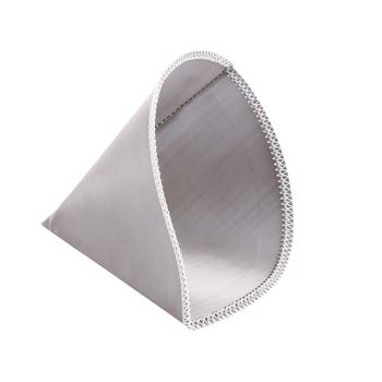 Wielokrotnego użytku wlać filtr do kawy Mesh papierowy filtr do kawy stożek ze stali nierdzewnej filtr 3 do 4 kubek filtr do kawy filtr tanie i dobre opinie CN (pochodzenie) STAINLESS STEEL Filtry wielokrotnego użytku