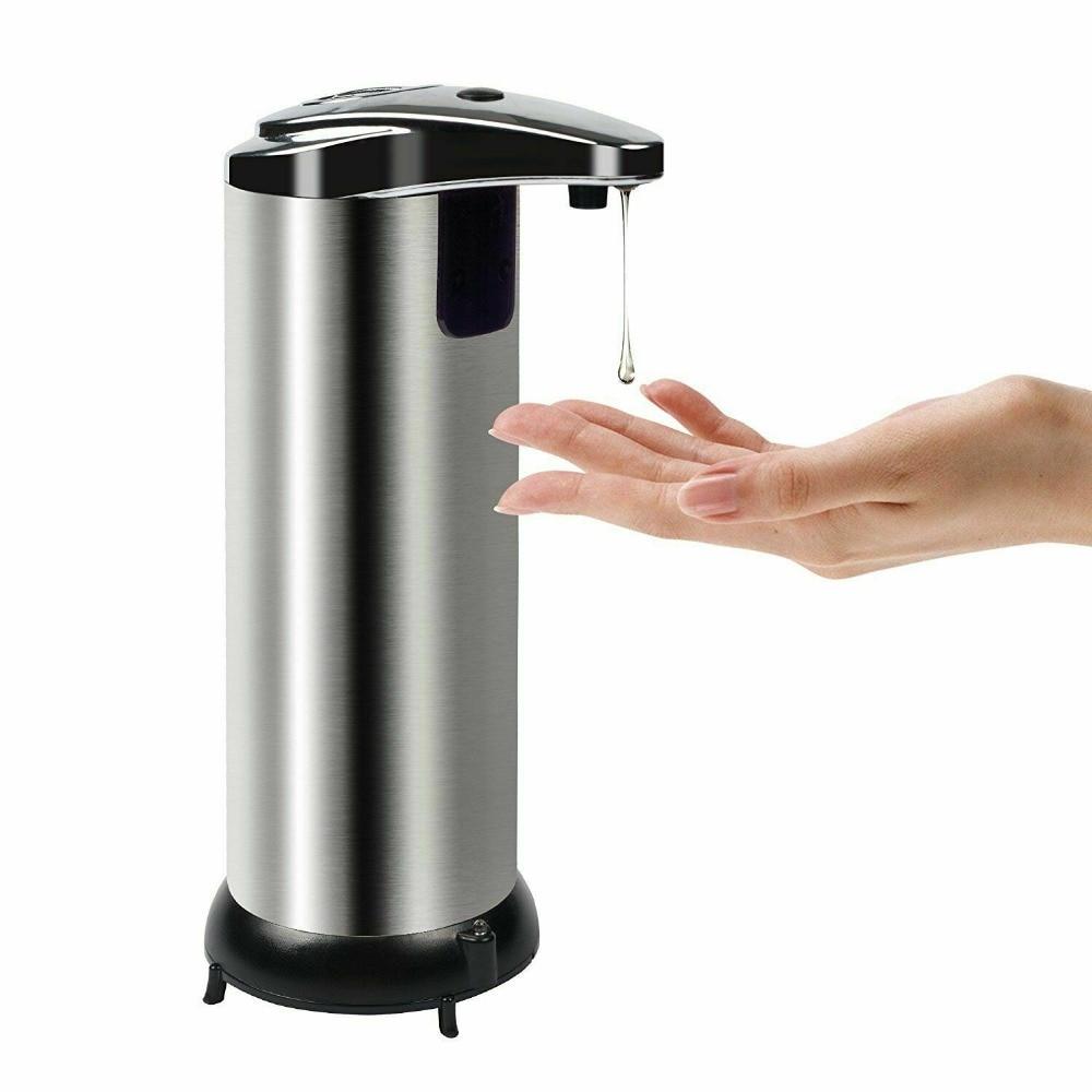 Haa7fe5aea5fa4541b72dba847f880ec8d 250ml Stainless Steel Automatic Soap Dispenser Handsfree Automatic IR Smart Sensor Touchless Soap Liquid Dispenser