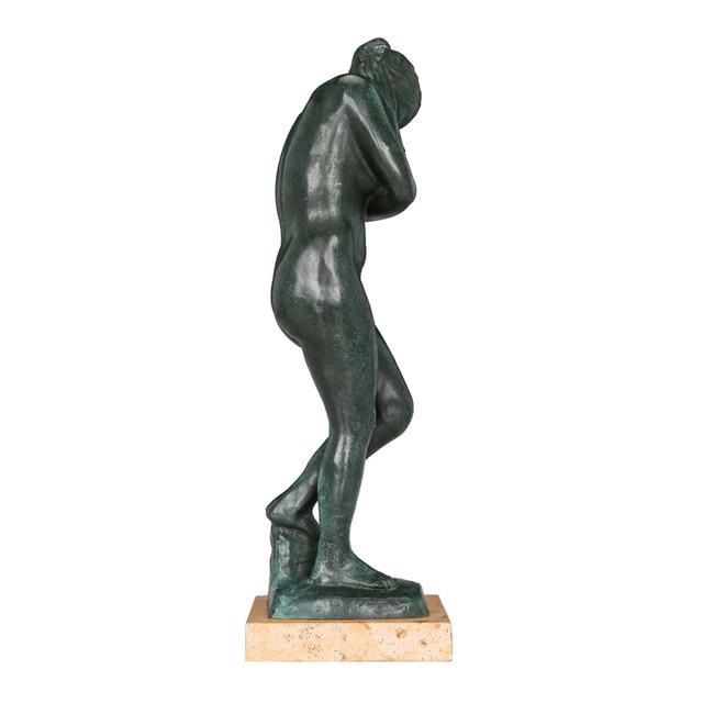 Célèbre Rodin Sculpture Eve Statue Bronze Reproduction collectionneur collection Vintage femme Figurine œuvre