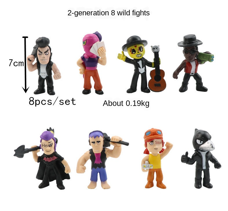 Most Complete Brawl Star Wars Hero Action Figure Model Toys Brawl Game Cartoon Kids Toy Model Doll Collection Gift For Boy Girl