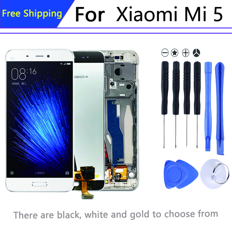 Original For 5.15″pantalla <font><b>Xiaomi</b></font> mi 5 in Mobile Phone LCDs Digitizer Assembly Parts <font><b>display</b></font>+Frame mi 5 lcd 1920 * 1080 image