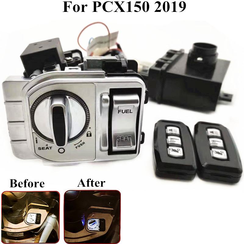 Modified motorcycle parts pcx150 Keyless entry system pcx smart key Entry Anti-line Remote Central keys for honda pcx150 2019