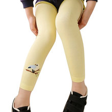 Осенние детские леггинсы для девочек с цветочным принтом брюки