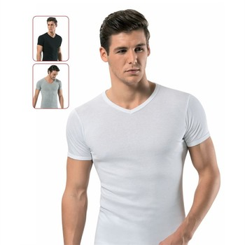 English T Shirt Mens Black And White 100% Cotton T-shirts Summer Tshirt Tops European Size Made In Turkey by Turkish