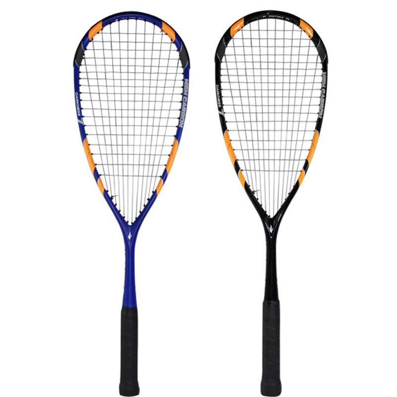 high quality All carbon Squash Racket light durable with line bag Professional competition training Carbon fiber squash rackets