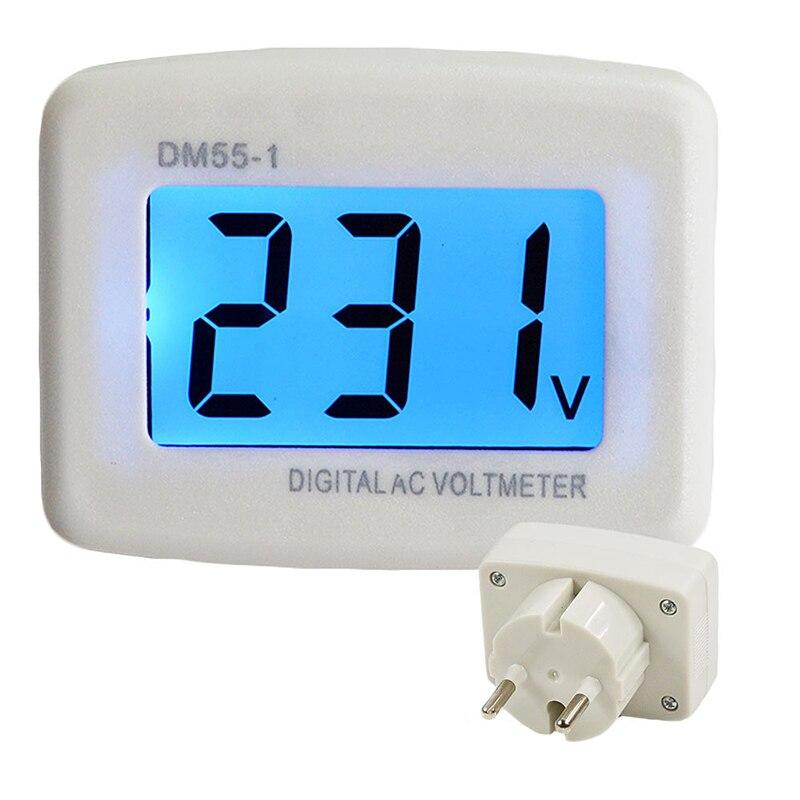Штекер цифрового соединения в Напряжение DM55-1 110-220V ЕС/штепсельная вилка американского стандарта Напряжение тестер настенный плоский Диспл...