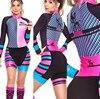 Terno de triathlon profissional, camiseta de ciclismo preta feminina, macacão, manga longa em gel, conjunto de ciclismo, 2019 17