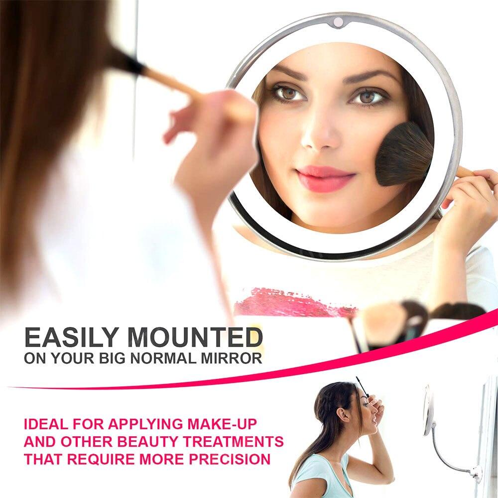 10x espelho de maquiagem ampliacao flexivel 01