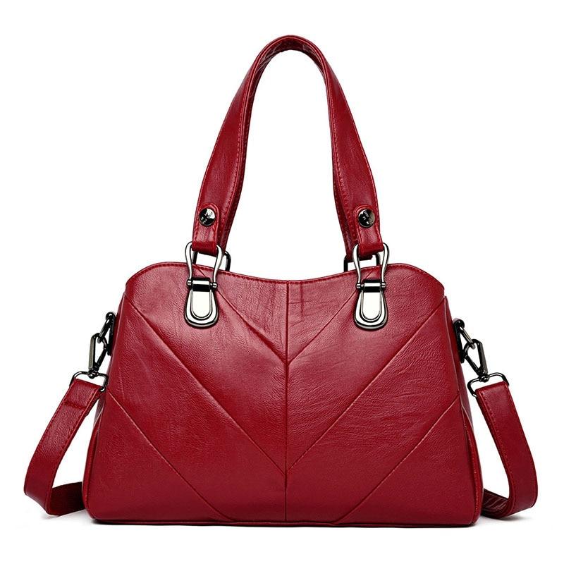 3 Pockets Women Genuine Leather Handbags High Quality Purses and Handbags Women Luxury Brand Leather Hand Bag Shoulder Bags