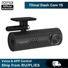70mai araba dvrı WiFi APP & İngilizce sesli kumanda 70mai çizgi kam 1S 1080P HD gece görüş 70 MAI 1S araba kamera otomatik Video kaydedici