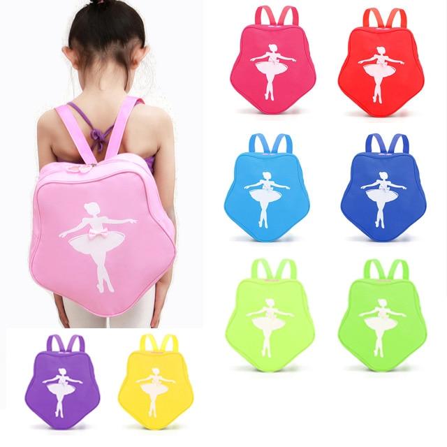Children Sports Yoga Dance Gymnastics Bag Girls Princess Cute Ballet Dance Pink Backpack with bow-knot