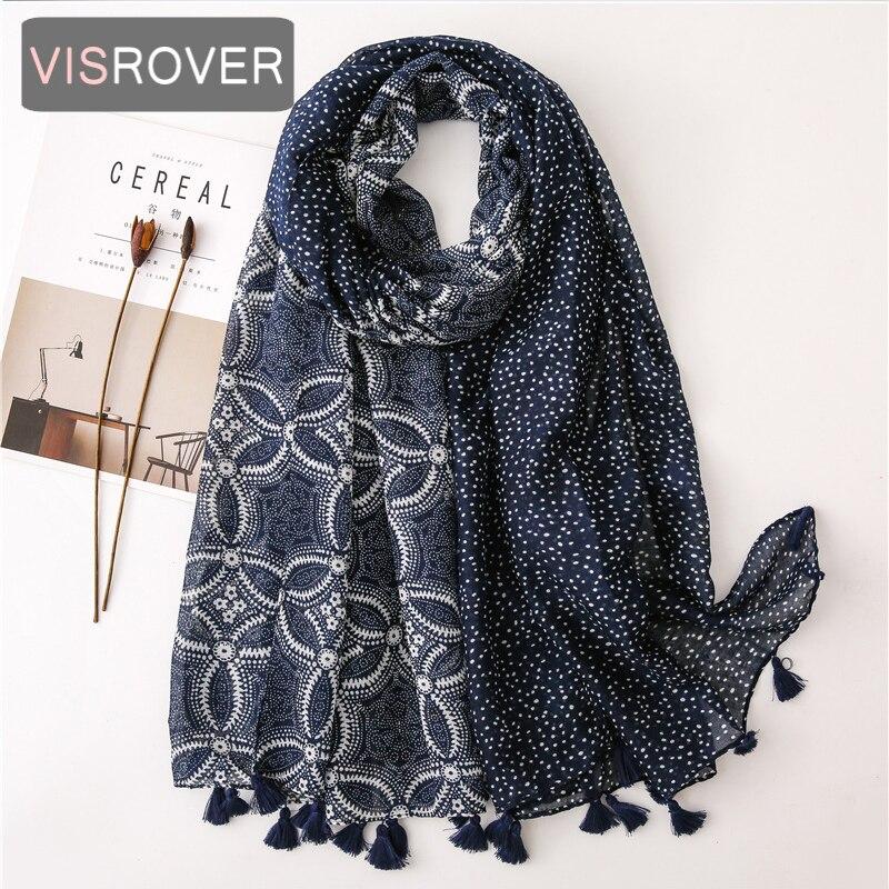 Beach Scarf Luxury Brand Viscose Big Scarf Hijab Natural Geometric Print Scarf Hair Womens Scarfs Fashionable Spring Scarve