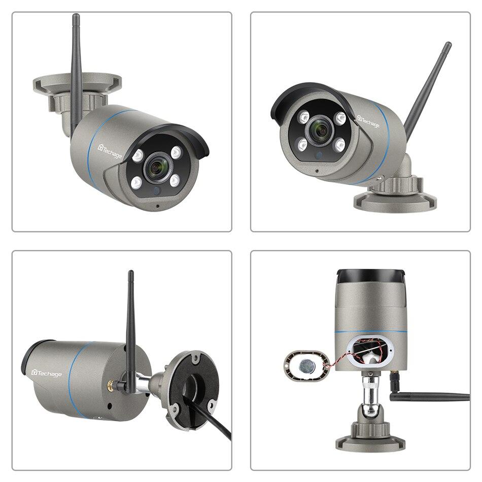 Image 2 - Techage 8CH 1080P Wireless Camera NVR System 4 Array LED 2MP Wifi 2 Way Audio Sound Video Outdoor CCTV Security Surveillance KitSurveillance System   -