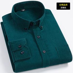 Image 4 - הגעה חדשה אופנה סופר גדול טהור כותנה קורדרוי סתיו גברים ארוך שרוול מזדמן רופף גדול מזדמן חולצות בתוספת גודל M 7XL 8XL