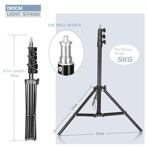 Image 2 - Fotografia Studio regulowany 190CM statyw oświetleniowy 1/4 łeb śruby dla zdjęcie z kamery oprawa lampy uchwyt miękkie pudełko lampa pierścieniowa