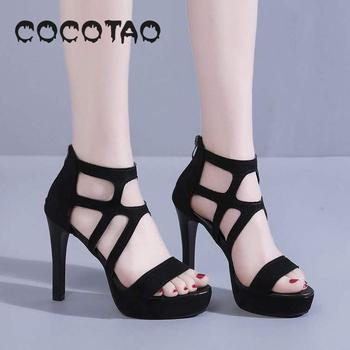 Roman Sandals Women 2019 Summer New Europe And The United States High Heels Peep-toe Stilettos Waterproof 33