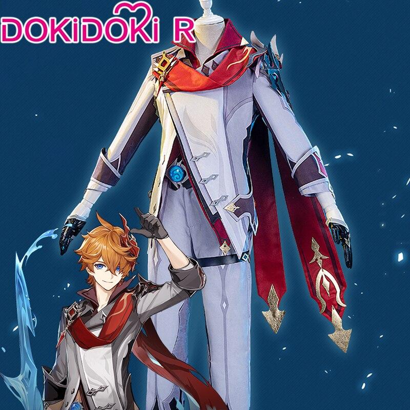 Dokidoki-r jogo genshin impacto cosplay tartaglia ajax traje tartaglia ajax cosplay impacto genshin cosplay