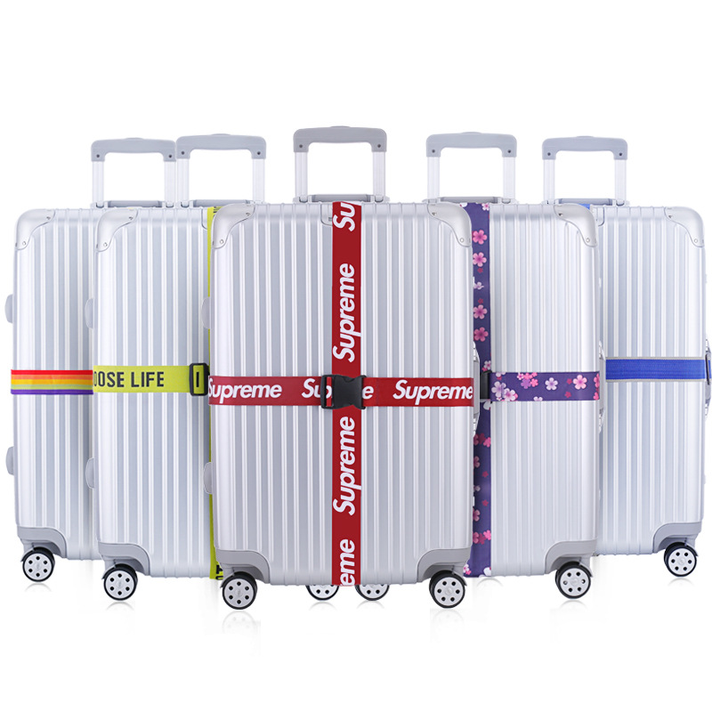 Manufacturers Direct Selling Luggage Packing Belt Cross Box Strapping Suitcase Band Ordinary Coded Lock Luggage Strap