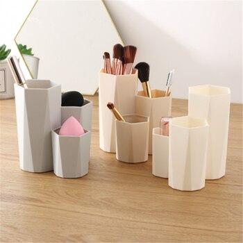 Organizador de esmalte de uñas, caja de almacenamiento pincel cosmético a la moda, productos de herramientas de maquillaje